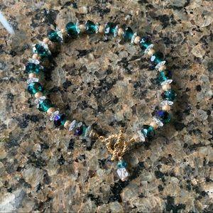 Iridescent Austrian Crystal Bracelet